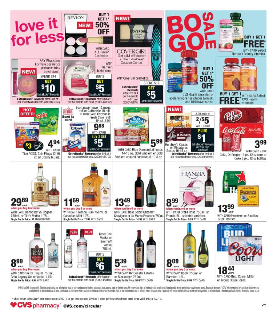 CVS Weekly Ad and Circular: 3/25 to 3/31/18 - Slickdeals net