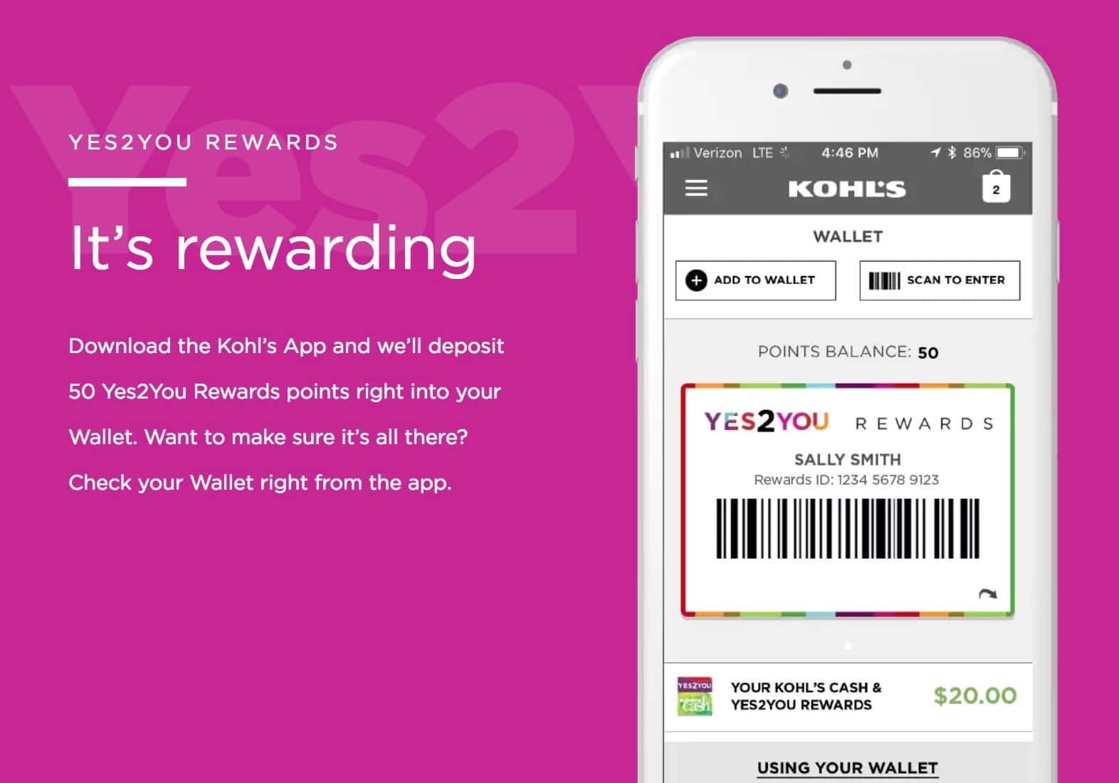 kohls store coupon smartphone