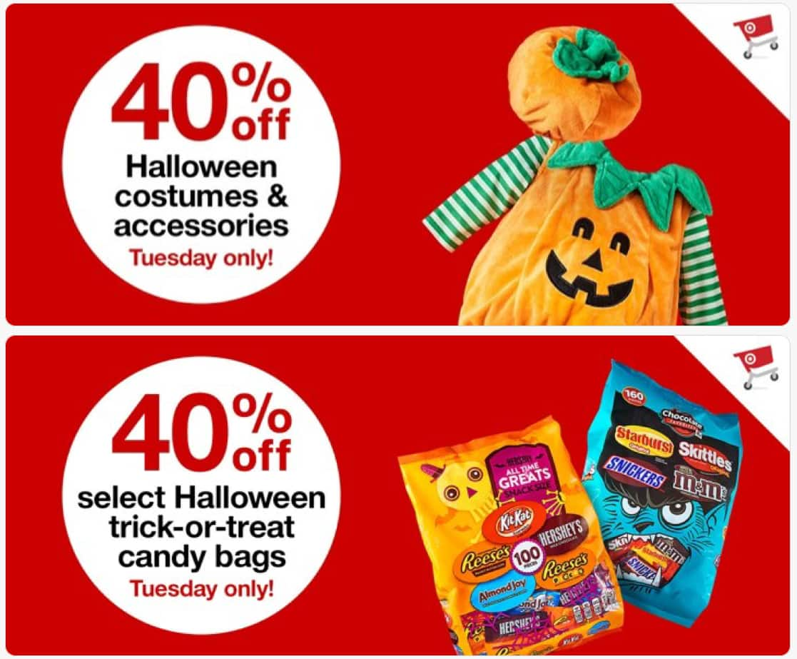 on 9/18, the target halloween sale offers 40% off spooky essentials