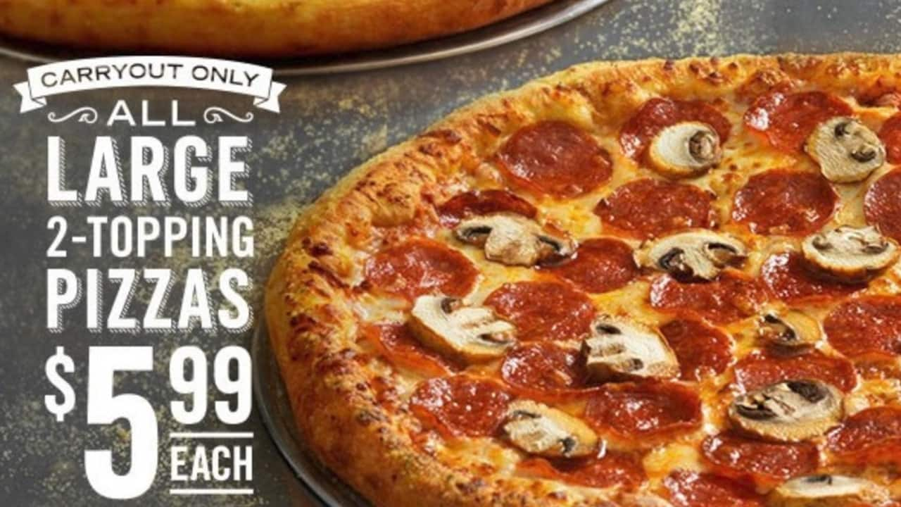 Domino S New Coupon Gets You A Large 2 Topping Pizza For Only 5 99