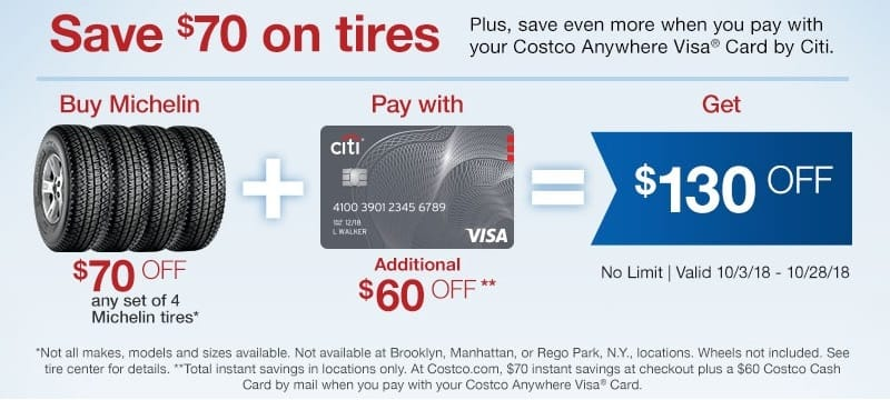Costco Rego Park >> This Costco Tire Discount Offers Savings up to $130