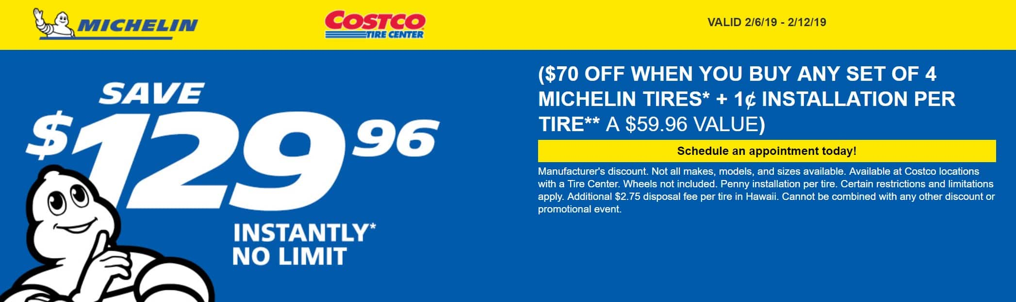 If you're a Costco Member with a Costco Visa Card, you can maximize your savings on tire changes.