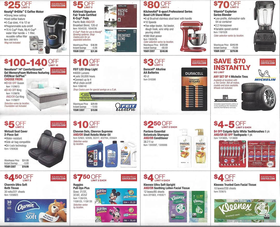 costco april 2019 coupon book and best deals of the month. Black Bedroom Furniture Sets. Home Design Ideas
