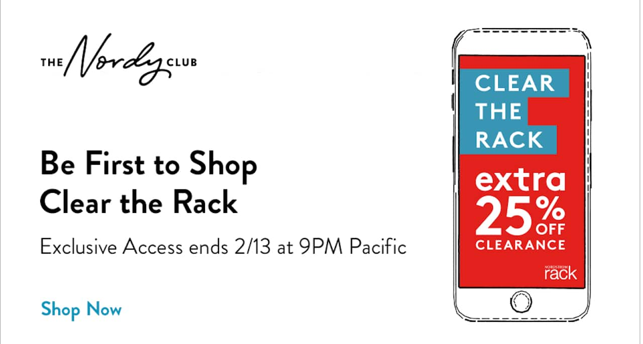 ad for Nordstrom Rack Clear the Rack Early Access Sale