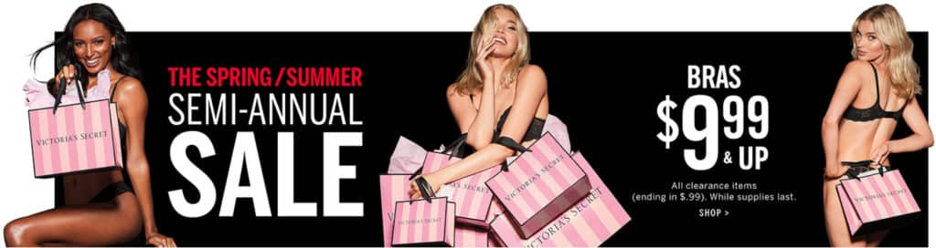 800a98427c2d9 Victoria's Secret Is Offering Big Discounts During Its Semi-Annual Sale