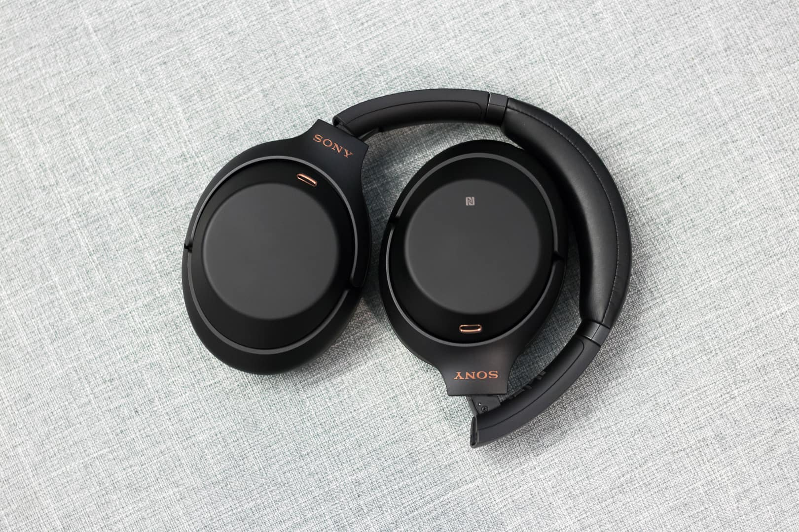 The headphones fold up nicely for easy storage
