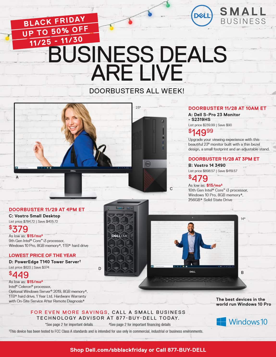 Dell Small Business Black Friday 2019 Ad Highlights