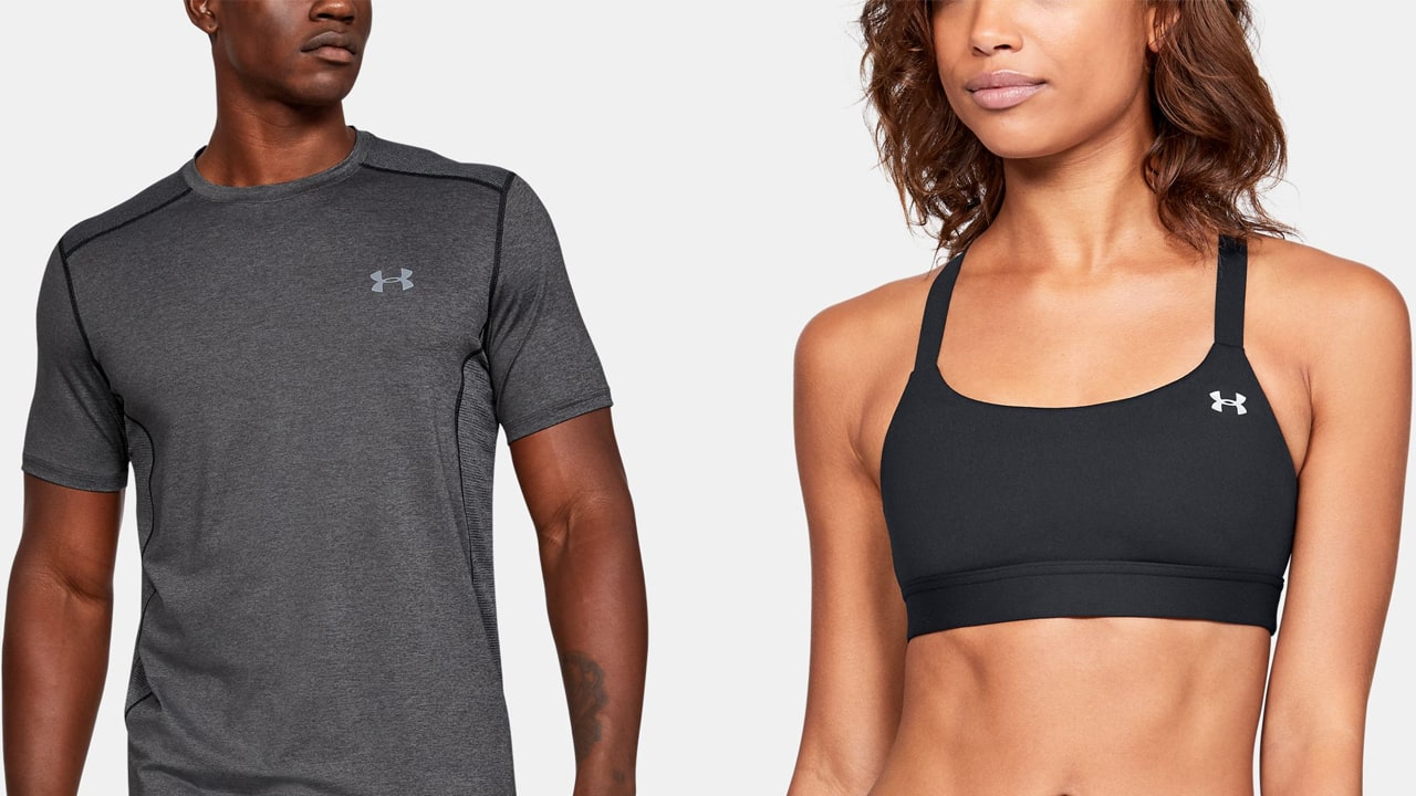 man-next-to-woman-wearing-under-armour