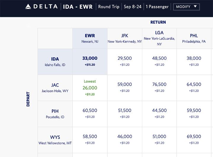 Delta bookings website