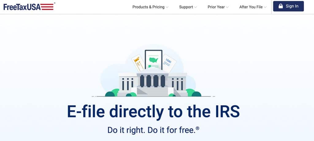 freetaxusa website