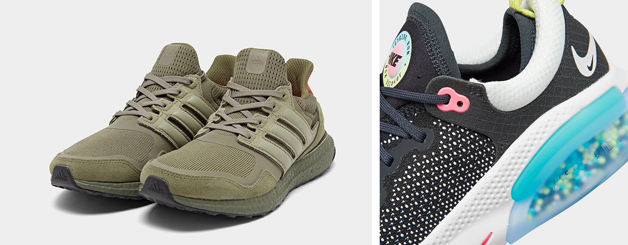 outdoor running shoes army green ultraboost adidas and nike colorful fly knit