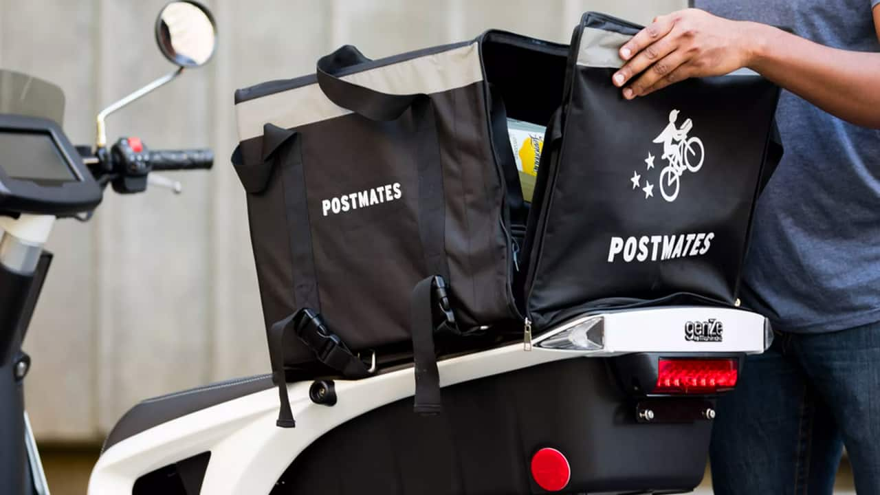 postmates food delivery scooter