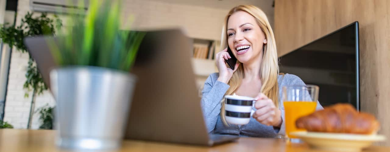 woman-making-conference-call-at-home