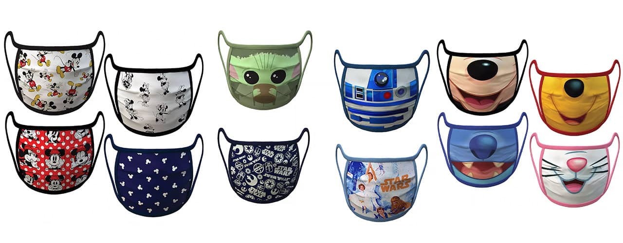 disney is elling face masks star-wars and all the disney characters as well as Marvel and PIXAR