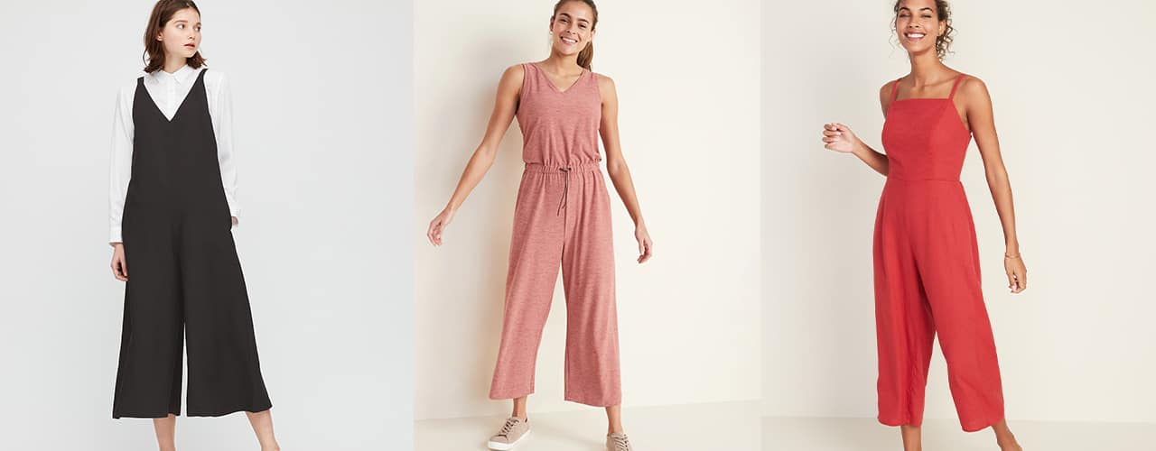 jumpsuits on sale from uniqlo and old navy