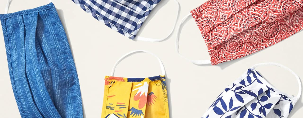 old navy summer print cloth face masks