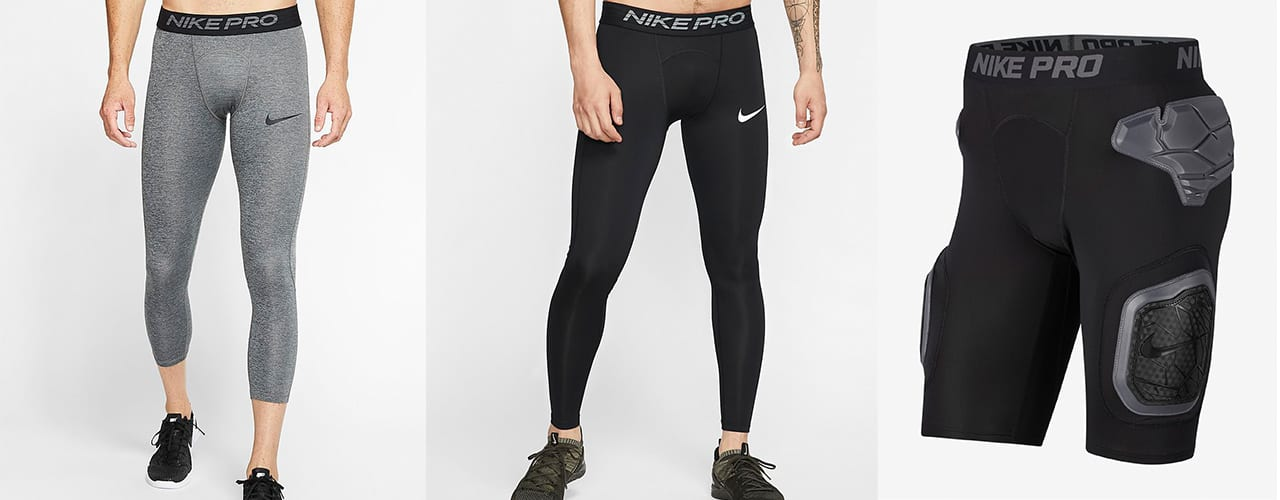 nike pro compression pants and shorts on sale