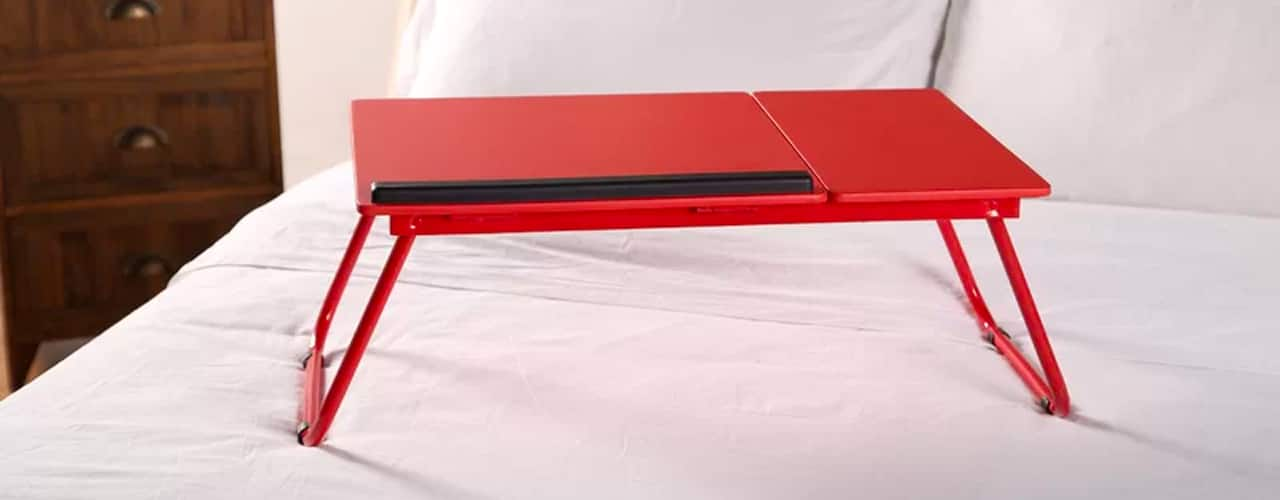 2 inbody Cabrillo Red Portable Folding Standing Desk Converter_