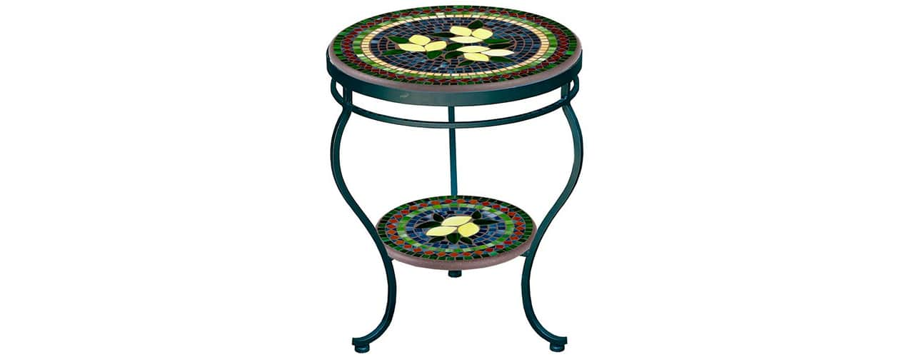 4 inbody Tuscan Lemons Double-Tiered Side Table