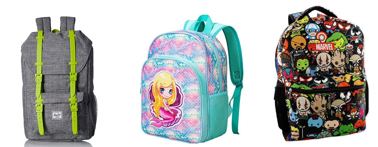 Marvel Kawaii Avengers Backpack and mermaid glitter backpack for girls