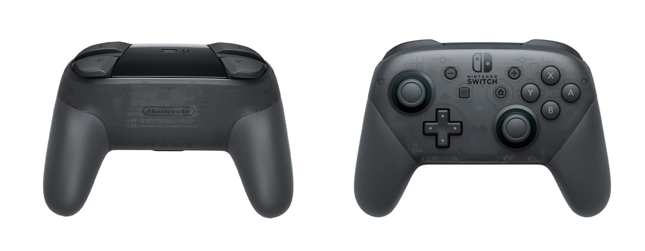black nintendo switch pro controller