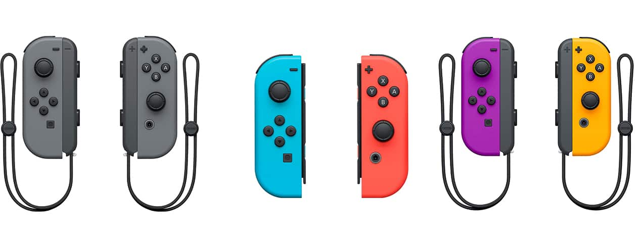 Neon Joy Con Switch Controllers