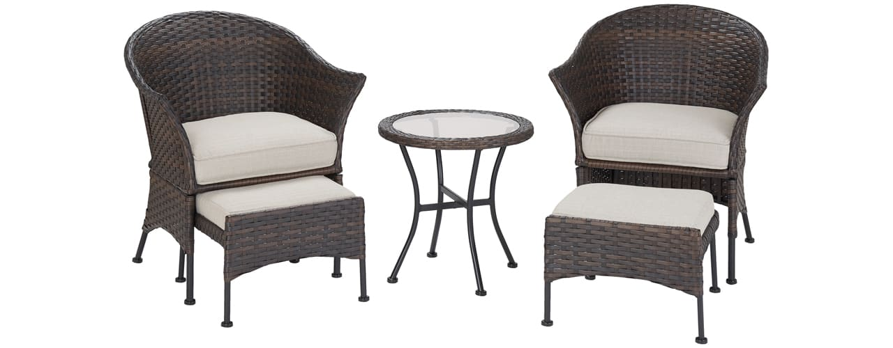 inbody walmart Mainstays Arlington Glen 5 Piece Outdoor Furniture Patio Leisure Set