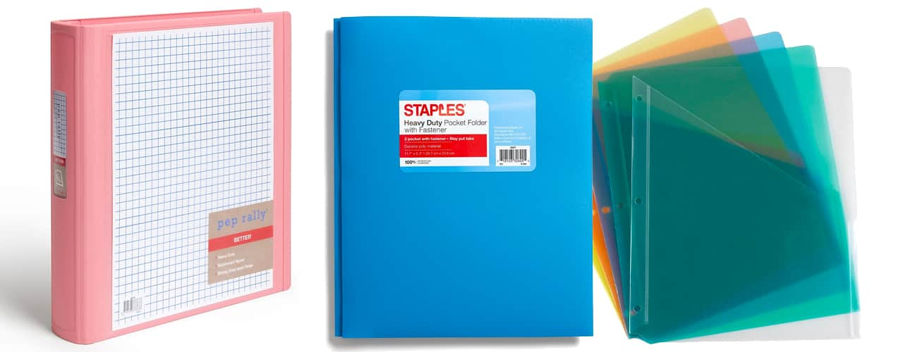 staples inbody Keep it Together with Colorful Folders and Binders