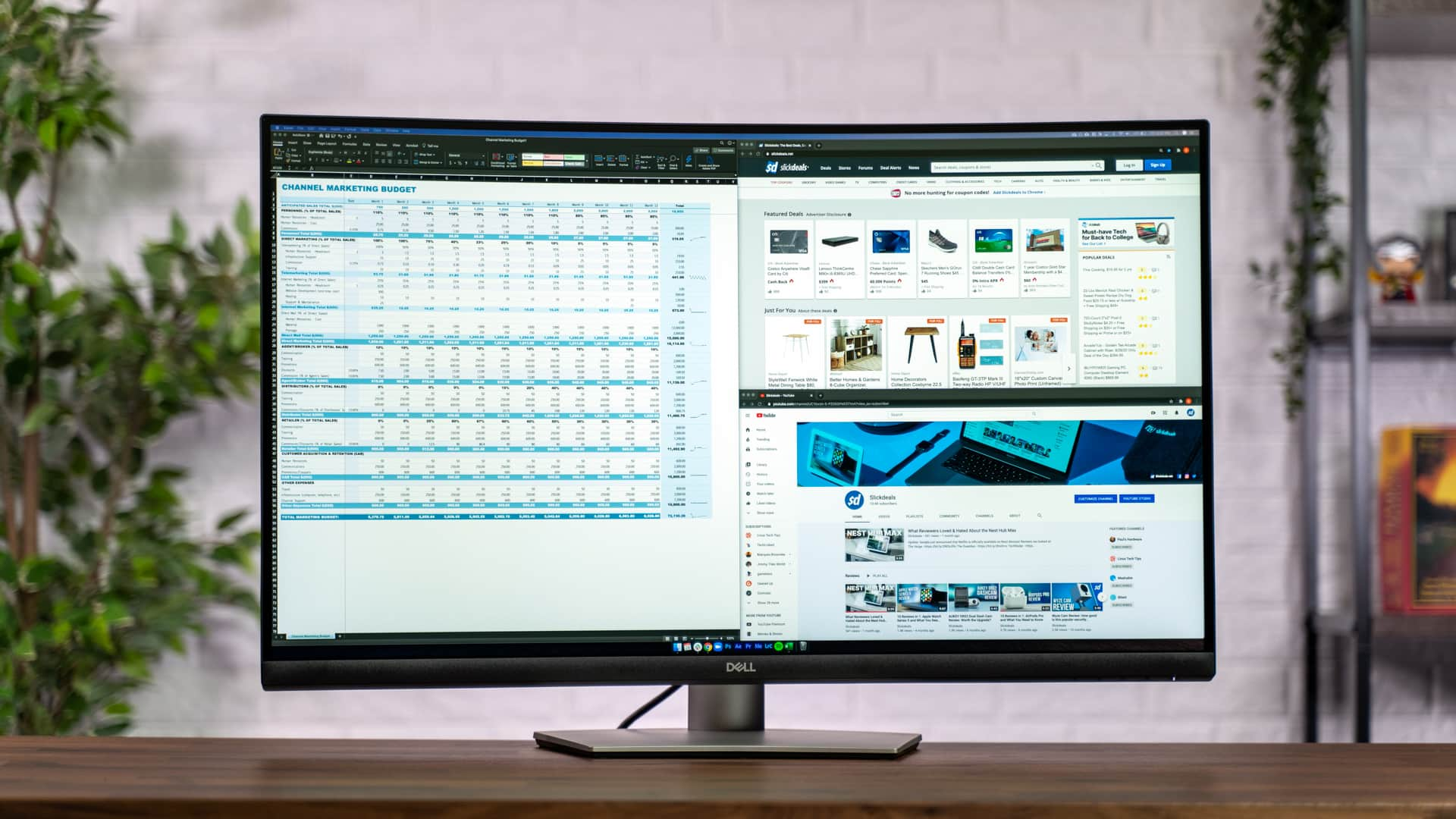 Review Dell S 32 Inch Curved 4k Monitor Combines Multitasking With A Cinema Experience