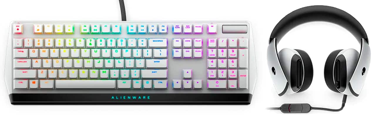 Alienware Low Profile RGB Mechanical Gaming Keyboard aw510k and alienware headset AW510H